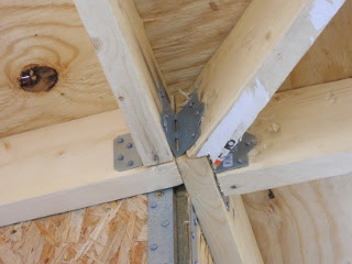 Porch Roof Rafters Hip Rafter Hangers Installed