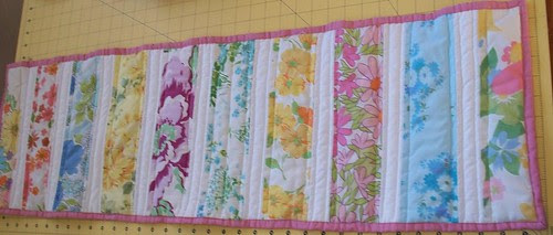vintage sheet table runner