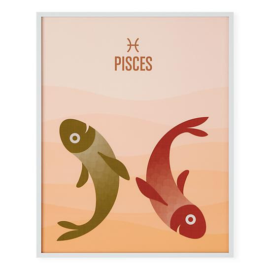 What's Your Sign Framed Wall Art (Pisces) in Framed Wall Art   The