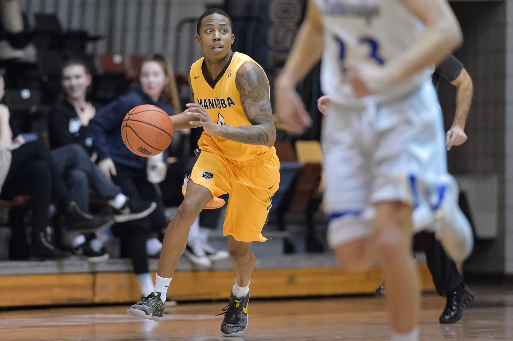 Bison Rashawn Browne captured Canada West conference men's basketball assist title with 6.8 assists per game and becomes second Bison to accomplish this feat in conference regular season