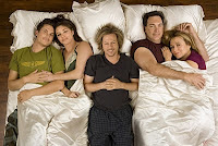 Cast of Rules of Engagement in bed