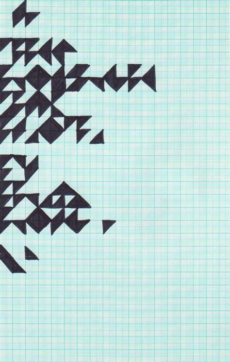 graph paper    cool  triangles design