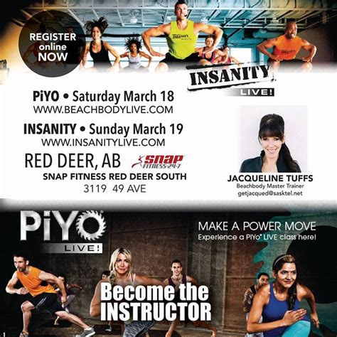 piyo insanity  instructor training  snap fitness
