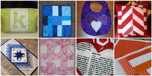 8 projects from the 2nd challenge of Project QUILTING - My Favorite Color
