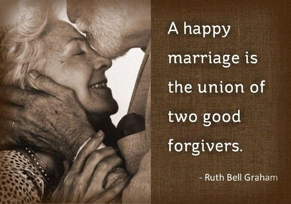 A happy marriage is the union of two good forgivers | Picture Quotes