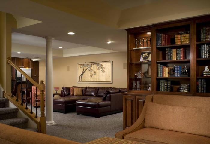 living space basement remodel 11