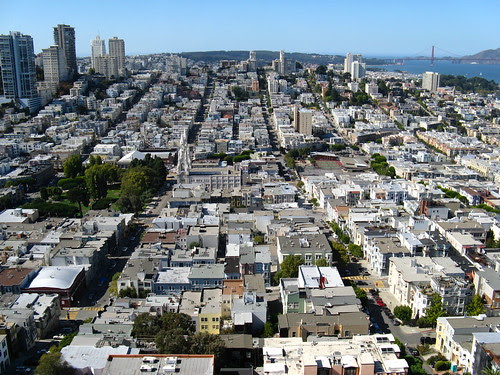 Vista del barrio italiano y chinatown en San Francisco