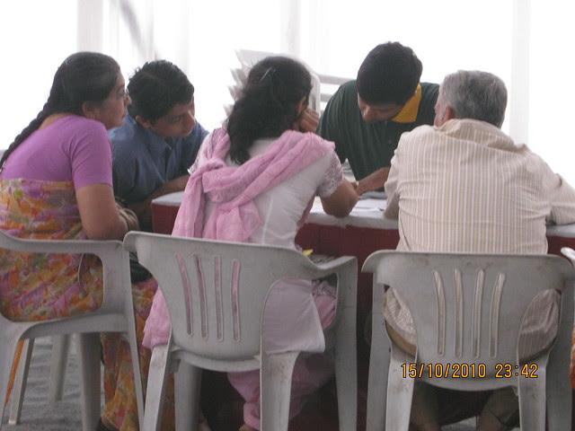 Property buyers at Vastushodh's UrbanGram on Saturday Morning, October 16, 2010