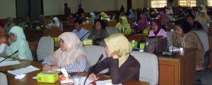 Peserta Workshop PTK di Perpustakaan UNJ