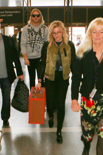 Chloe Moretz Takes a Flight in LA