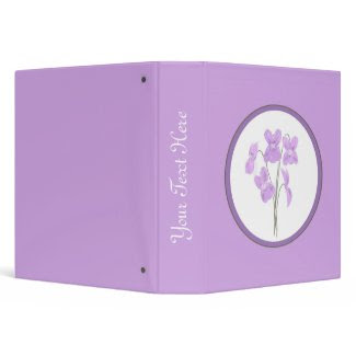 Wild Violet Watercolor Bouquet Scrapbook Binder binder
