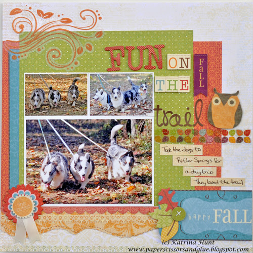 """A """"Fun on the Fall Trail"""" layout"""