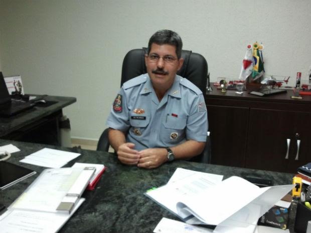 Coronel Cássio Roberto Armani, de 47 anos,vai assumir nesta terça-feira (26) de chefe do Comando de Policiamento do Interior em São José dos Campos (CPI-1) (Foto: Carolina Teodora/G1)