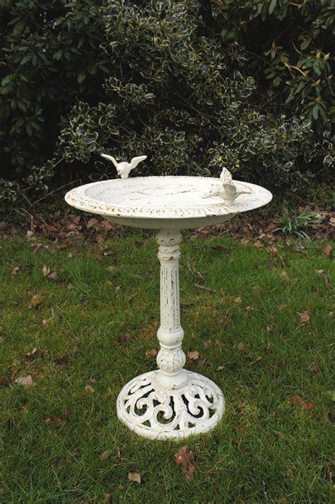 """""""Josette"""" Antique Cast Iron Bird Bath   Bird Baths & Bird"""