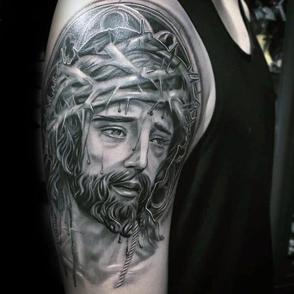 60 3d Jesus Tattoo Designs For Men Religious Ink Ideas
