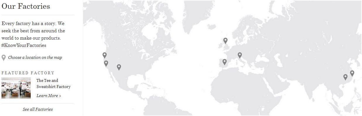 everlane factories