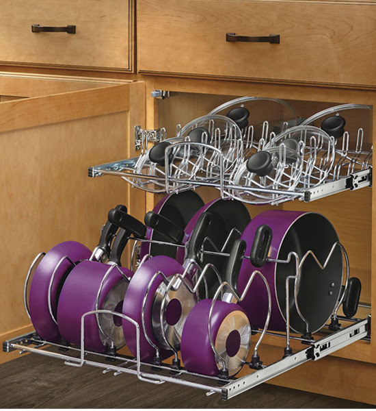 Two-Tier Cookware Organizer - Extra Large in Pull Out ...