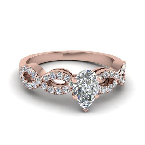 Have A Look At Our Pear Shaped Split Shank Engagement Rings