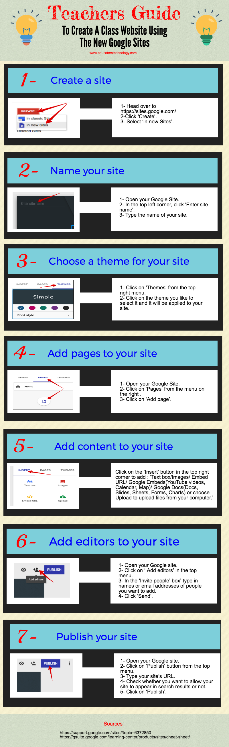 Teachers Guide to Creating A Class Website Using The New Google Sites