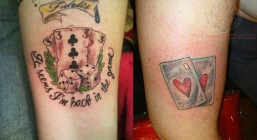 Playing Cards Game Tattoo Designs