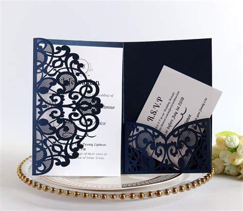 100pcs European Laser Cut Wedding Invitations Card Elegant