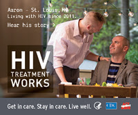 HIV Treatment Works poster