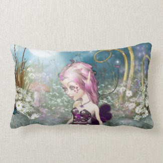 Valentine Fairy Throw Pillow