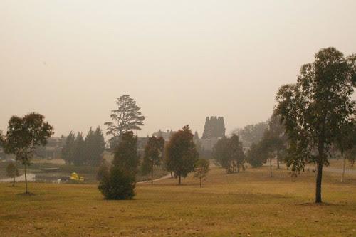 smoke haze over melbourne