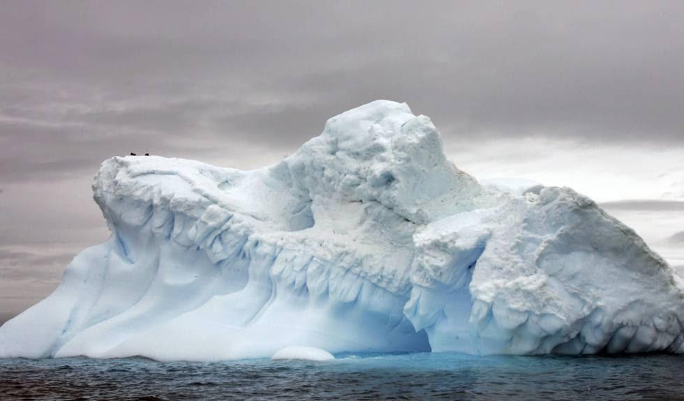 Formaciones de hielo en la Antártida.