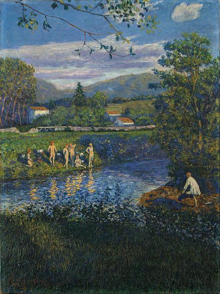 El baño en Rentería,1900.Óleo sobre lienzo.76x57cm.Museo de Bellas Artes de Bilbao.