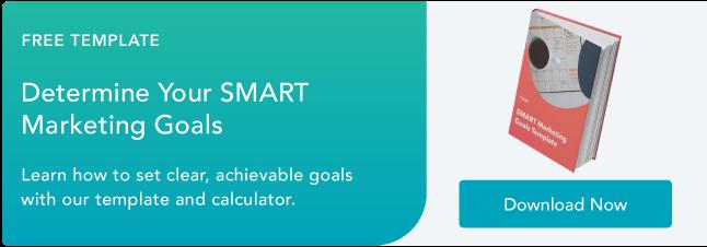 free marketing goal setting template