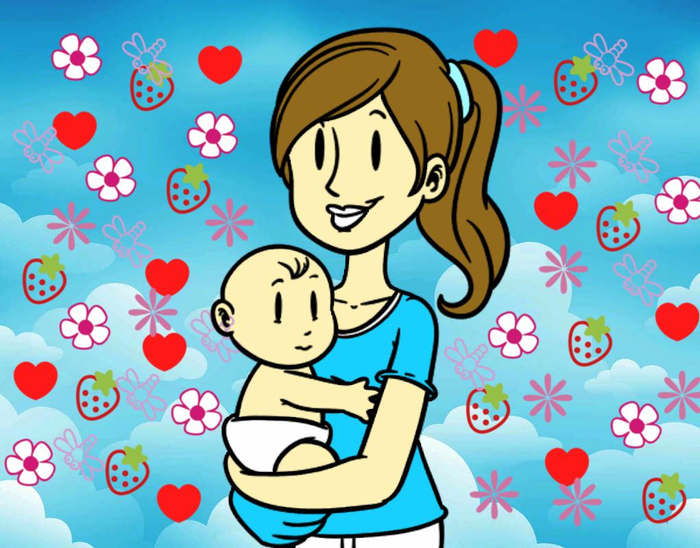 Dibujo De En Brazos De Mama Pintado Por Ale26 En Dibujos Net El Dia