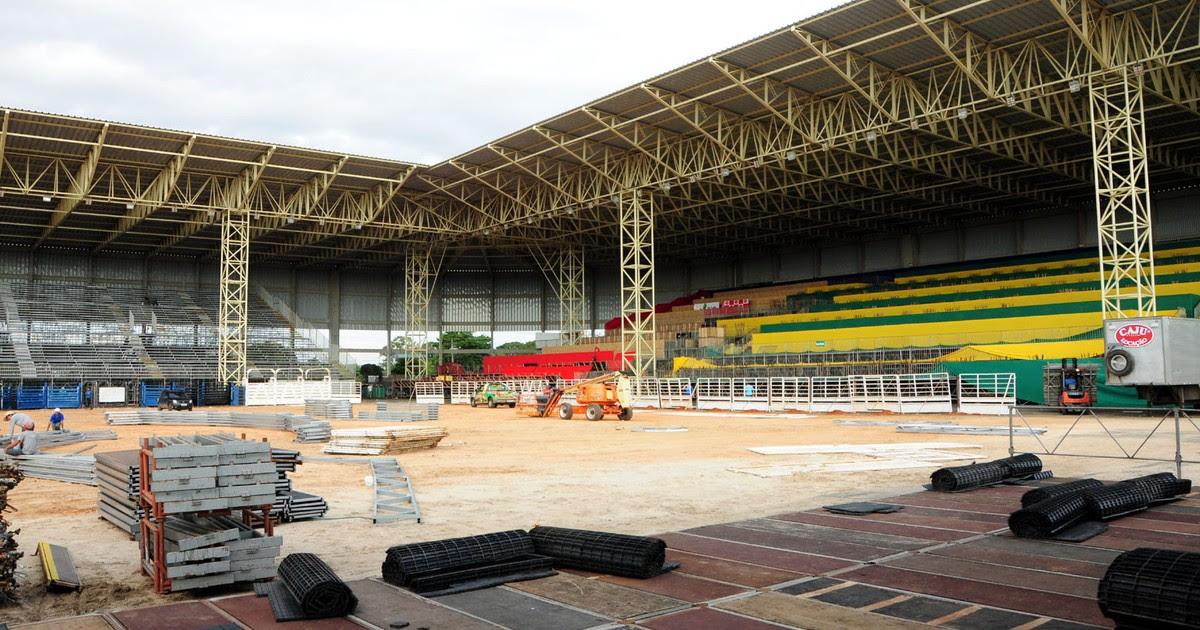 Arena da Festa do Peão, palco das competições em Americana (SP)(Foto: Raul Pereira/ G1)