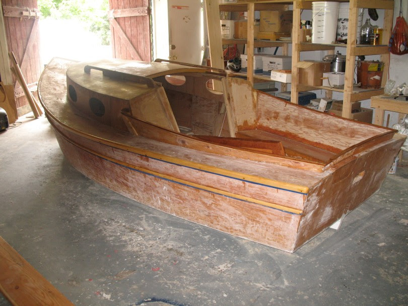 Cabin Cruiser Boat Building Plans wooden play boat