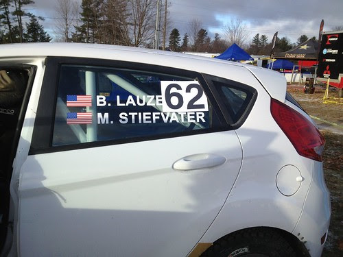 The Fiesta at Rally of the Tall Pines 2012