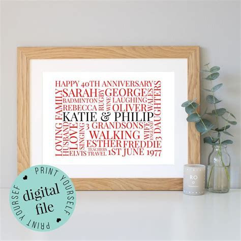 25  best ideas about 40th Anniversary Gifts on Pinterest