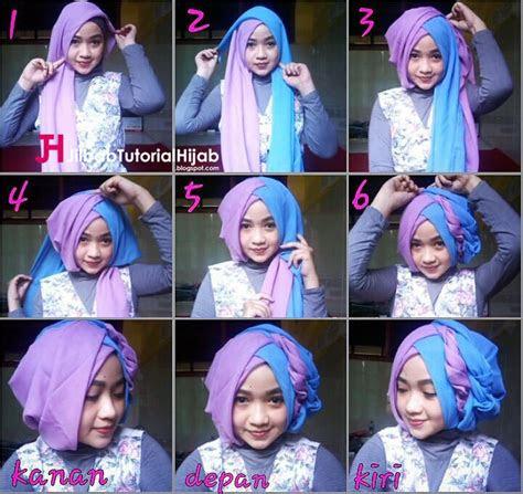 tutorial hijab segi empat  warna  wisuda  lebaran