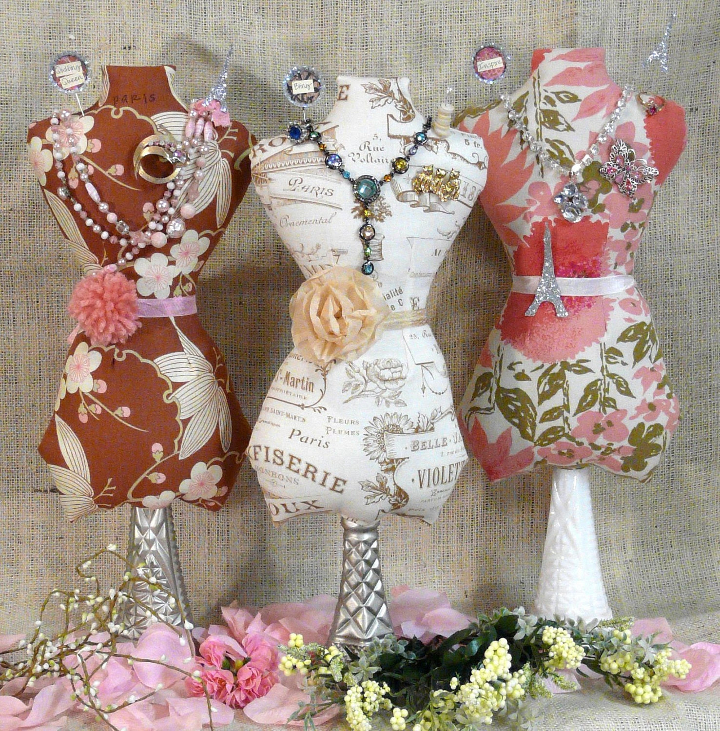 New 2011 Large Mannequin Dress Form E Pattern - jewelry holder Pincushion Pin Keep email primitive pdf pinkeep cushion