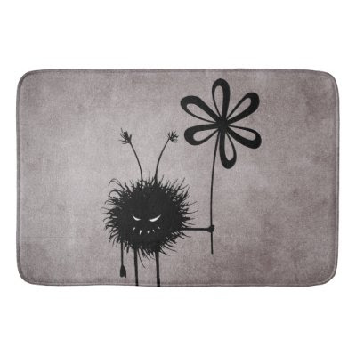 Evil Flower Bug Vintage Bath Mats