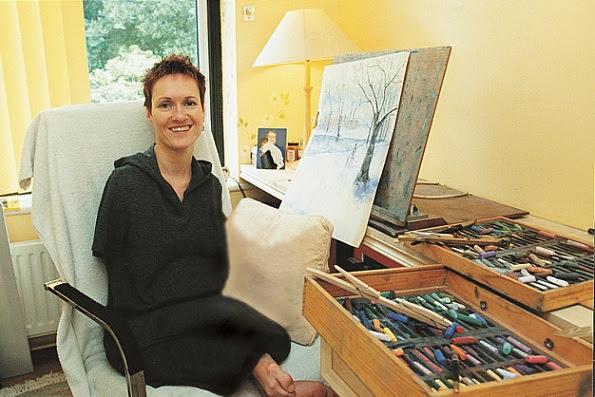 Alison Lapper em seu trabalho