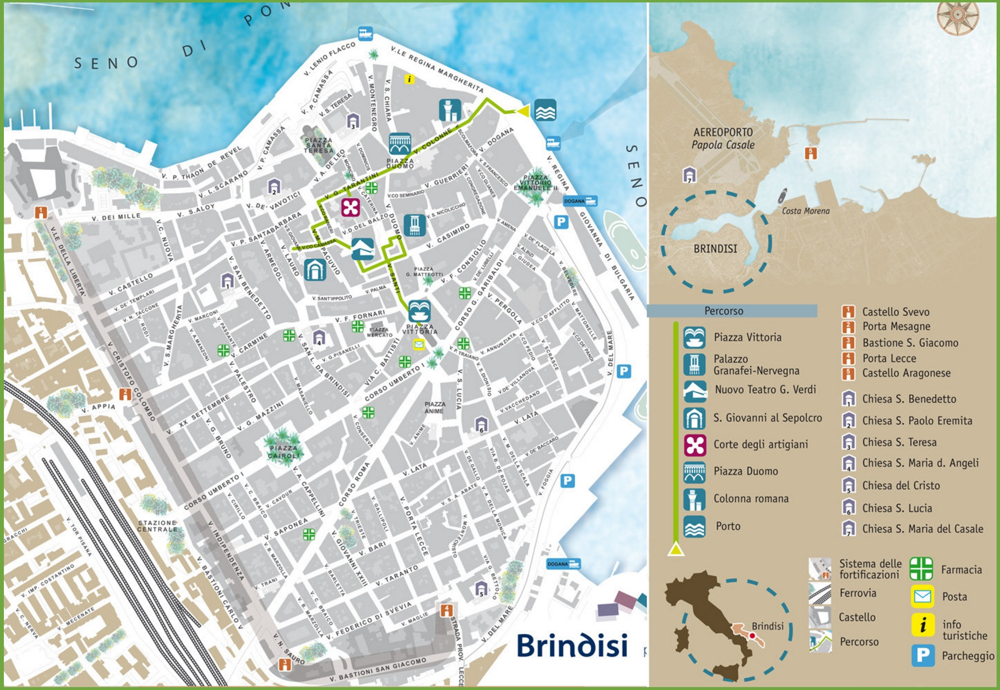 brindisi sightseeing map