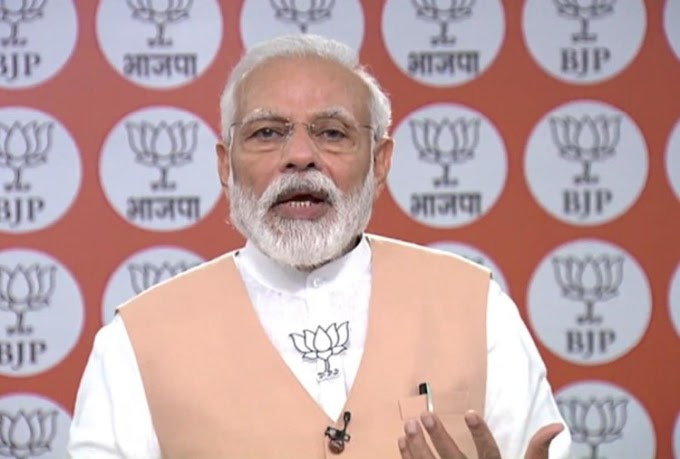 PM Modi speaks to BJP workers this is a long battle neither tired nor lost