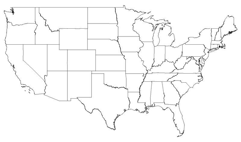 Draw On Us Map Us Map You Can Draw On