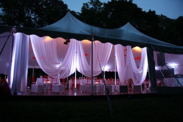 backyard lighting for the night Help wedding lighting diy decor Tent
