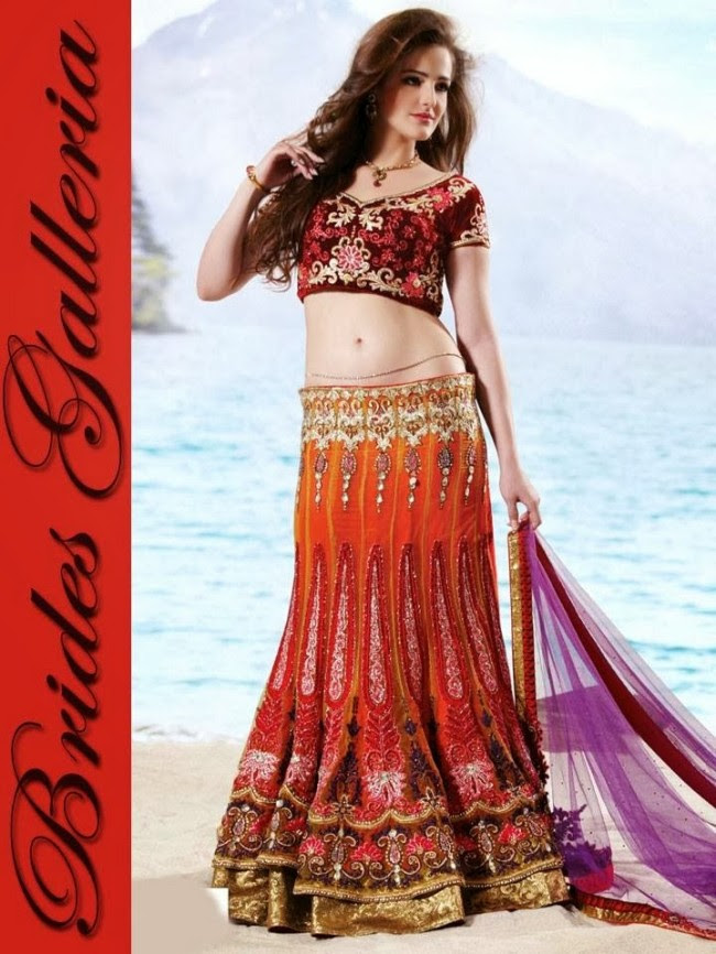 Indian-Bridal-Wedding-Lehangas-Velvet-Embroidered-Blouse-Fish-Cut-Lehenga-by-Brides-Galleria-1
