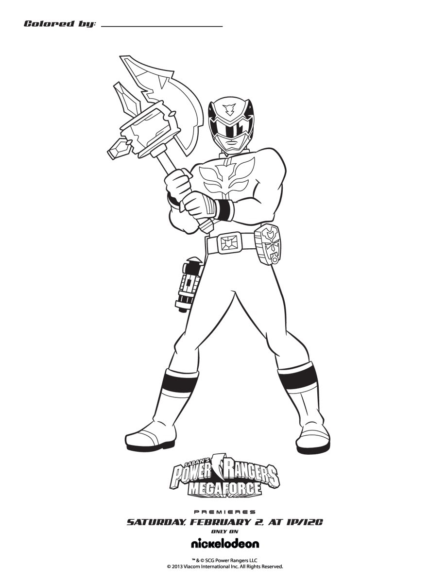 Fixed Power Rangers Red Coloring Pages