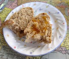 Half-whole grain country bread