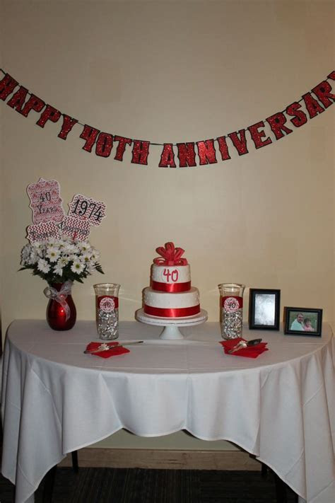 17 Best images about 40th anniversary ideas on Pinterest