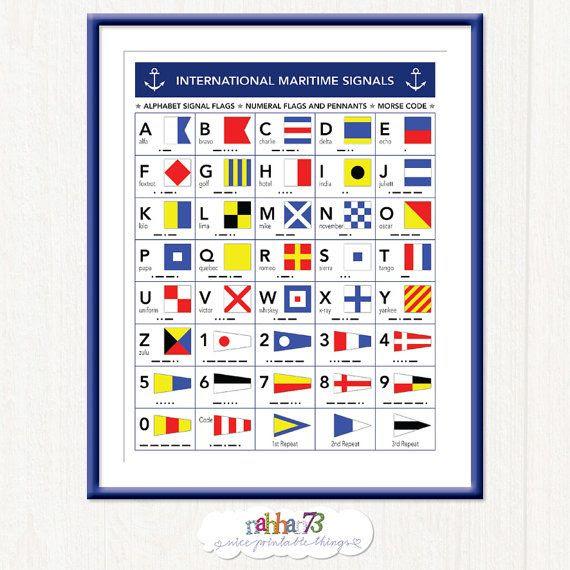 International Maritime Signals - Alphabet Flags - Morse Code ...