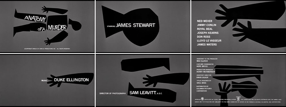 Saul Bass Anatomy of a murder 1959 title sequence